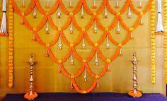 Pin By Anisa Rashid Khan On Mendi Backdrop Decorations Diwali Decorations At Home, Wedding Stage Decorations, Backdrop Decorations, Flower Decorations, Simple Stage Decorations, Backdrops, Mandir Decoration, Ganpati Decoration At Home, Ganapati Decoration