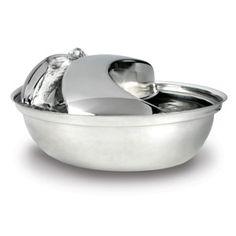 Pioneer Pet Raindrop Pet Fountain   Food & Water Bowls   PetSmart__reviews say quiet, more so if fuller. $59.99