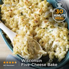"Wisconsin Five-Cheese Bake | ""A savory twist on traditional macaroni and cheese made with multiple cheeses for layers of cheese flavor in every bite."" -Kim B."