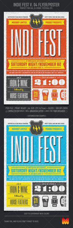 Indie Fest V. 04 Flyer/Poster - Events Flyers