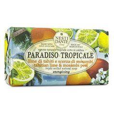 Paradiso Tropicale Triple Milled Natural Soap - Tahitian Lime & Mosambi Peel