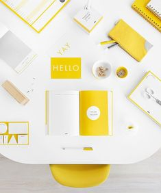 Brighten up and add some stylish colour with our Hello Yellow stationery collection: