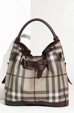 Burberry Belted Check Print Hobo available at Nordstrom