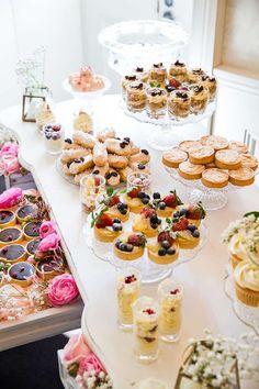 Bridal shower tips and ideas gm photographics Dessert Bars, Buffet Dessert, Pink Dessert Tables, Breakfast Buffet, Bridal Shower Desserts, Tea Party Bridal Shower, Bridal Shower Foods, Tea Bridal Showers, French Bridal Showers