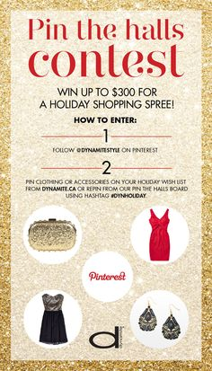 Pin for your chance to win Pin for your chance to win a Dynamite gift card! Pin Up Style, My Style, Addition Elle, Earring Tutorial, Holiday Wishes, Celebrity Houses, Xmas Crafts, Shopping Spree, Holiday Fashion