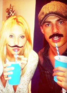Claire Holt (Rebecca) & Michael Trevino (Tyler) I love this photo! Michael is the best! #TVD