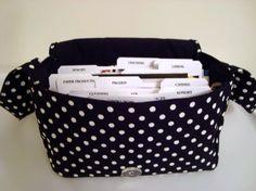 Super Size Fabric Coupon Organizer Holder by GrandmasLittleLilly, $20.45