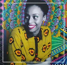 Our #WomanCrushWednesday is Chimamanda Ngozi Adichie a novelist who has the incredible ability to entwine emotion with visceral storytelling. Her book Half Of A Yellow Sun is a must read. Beautiful art done by Vix Harris Designs. #wcw #bookclub