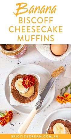These Banana Biscoff Cheesecake Muffins take the banana muffin up several notches to something like you might find at your local cafe, but are still so easy to make at home!