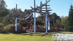 Botanical Garden of the Ozarks | Fayetteville, Arkansas | Arbor Drape Ceremony
