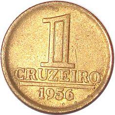 Moeda brasileira de 1 cruzeiro 1956