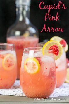 Cupid's Pink Arrow- A Vodka, Raspberry, Lemon & Orange Liqueur Cocktail