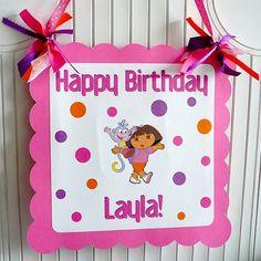 Dora The Explorer Birthday Party  Centerpieces  Set by farmerbaby