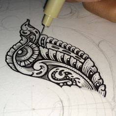 Reversed video drawing of the previous work - Tigga