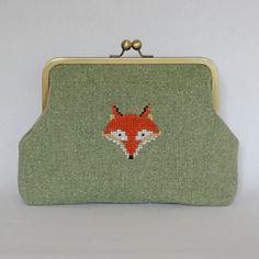 Large Tweed Fox Clutch  £42.00
