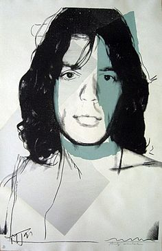 Andy Warhol, Mick Jagger (FS.II.138), 1975  Screenprint on Arches Aquarelle (Rough) paper, 43 1/2 x 29 in (110.5 x 73.7 cm)  Signed and numbered and also signed by Mick Jagger.  Edition of 250
