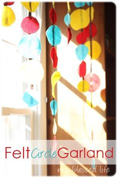 Felt Circle Garland could be fun for any color/theme part. Some day, I'll have really cute parties :)