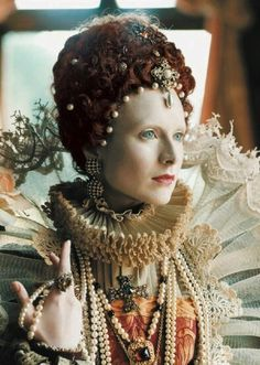 Real life depiction of how Elizabeth would have looked in real life. Makeup and costume.