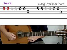 Download your free PDF of this lesson here: http://www.kidsguitarzone.com/Lesson-3.html.  http://www.kidsguitarzone.com has over 20 free guitar lessons for kids and beginners. Each easy guitar lesson uses a step-by-step approach to learning and playing guitar, making learning the guitar fun and simple.    For more easy- to-learn guitar lesson vide...