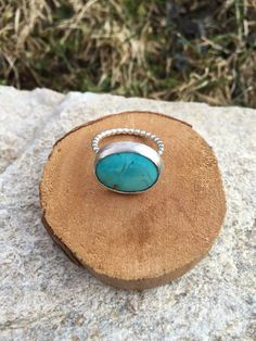 Typically I see oval shaped stones set vertically in line with the finger. But for this ring, I decided to go against the grain and came up with