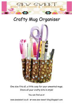 Crafty mug organiser PDF pattern by sewsweetuk on Etsy