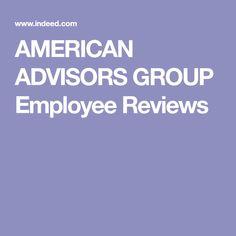 AMERICAN ADVISORS GROUP Employee Reviews