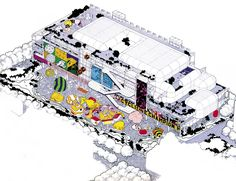Centre Pompidou - initial concept drawing.