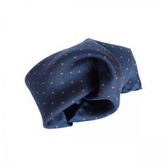 Lacrom - ACCESSORIES -  Coral Pocket square. Silk pochette (100%silk, twill). Pois print made in Italy.