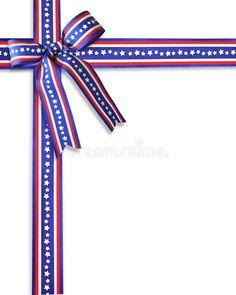 July 4th, Presentation, Symbols, Hero, Letters, Invitations, Stars, Ribbons, Illustration