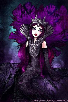 An exclusive artwork for the collaboration with Ever After High for the San Diego Comic Con Mattel. Art by freshplinfa Raven is The Evil Queen Dexter, Raven Queen, Evil Queens, Ever After High, San Diego Comic Con, High Art, Disney Style, Anime Naruto, Monster High