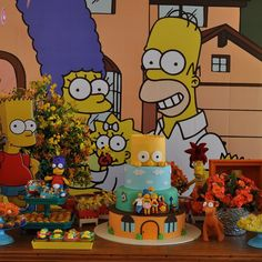 SIMPSONS3 The Simpsons Theme, Simpsons Party, 10th Birthday, Baby Birthday, Birthday Party Themes, Bolo Simpsons, Bart Simpson, Festa Party, Bar Mitzvah