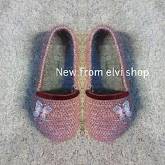 Crochet shoes|Slippers shoes|Outdoor shoes for girl|Pink Ready for sheep by elvihandmade on Etsy