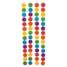 I am going to cut out polka dots in different colors and add them to my boring white walls to add some color to my class. Rainbow+Polka+Dots+Hanging+Decoration+-+OrientalTrading.com