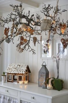 meine skandinavischen Heimat: Hübsches Weihnachten Dekoration mit Winterzweige