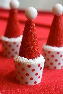 Gluten Free Santa Hat Cupcakes