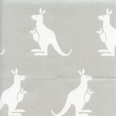 Kangaroo French Grey White Cotton Twill Drapery Fabric by Premier Prints