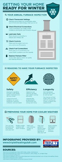 An improperly operating furnace could release carbon monoxide into your home. Inhaling carbon monoxide can lead to headaches, weakness, confusion, and even death. See how scheduling a furnace inspection can help prevent this safety issue by clicking on this infographic.
