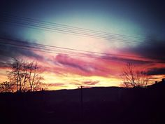 Sky on fire..