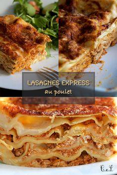 Lasagnes express au poulet | Cuisine en scène - CotéMaison.fr