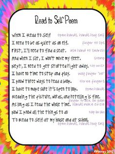 Classroom Freebies: Read to Self Poem