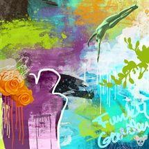 Funky Garden 2 www. Disney Characters, Fictional Characters, Painting, Garden, Art, Kunst, Art Background, Garten, Painting Art