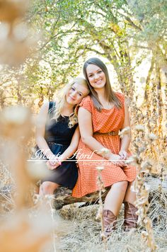 Teen Portraits in the Sunset Sisters Siblings by Marta April Photography