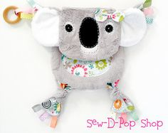Koala Baby Lovey Blanket Organic Ring Teething Toy by SewDPopShop