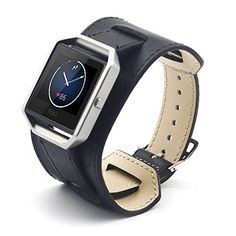 $47 Eagwell Fitbit Blaze Accessory Band,Luxury Genuine Leather watch Band strap Bracelet Replacement Wrist Band for Fitbit Blaze Watch Band & Sport & Edition- Cuff Black (5.9-7.8in) EAGWELL http://www.amazon.com/dp/B01CU9GXEK/ref=cm_sw_r_pi_dp_2pj7wb0XN6T8E