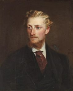 Portrait of Edmund Langton (1841-1876) whose children gave Gunby Hall and 1500 acres to the National Trust.  Artist unknown, Date 19th century, Oil on canvas– Location on the Staircase at Gunby Hall, Lincolnshire.