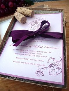 Our winery themed wedding invitation is a wonderful choice for a ...