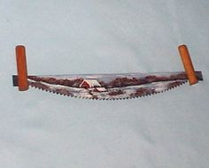 Collectible Mini Painted Crosscut Winter Saw Custom Order - Other