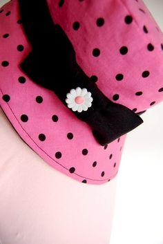 Girls Polka Dot Hat... I like this!!!