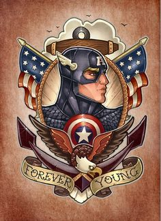 Cap America. Available as T-Shirts & Hoodies, Stickers, iPhone Cases, Samsung Galaxy Cases, Posters, Home Decors, Tote Bags, Prints, Cards, iPad Cases, and Laptop Skins