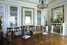 Grand Palais - Intérieur - Pavlovsk - Rez de Chaussée - Nouveau Bureau - Réalisé par Charles Cameron puis refait par Giacomo Quarenghi en 1800.